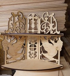 Laser Cut Corner Shelf For Icons Iconostasis DXF File