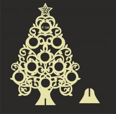 Wooden Christmas Tree Laser Cut CNC Template Free Vector
