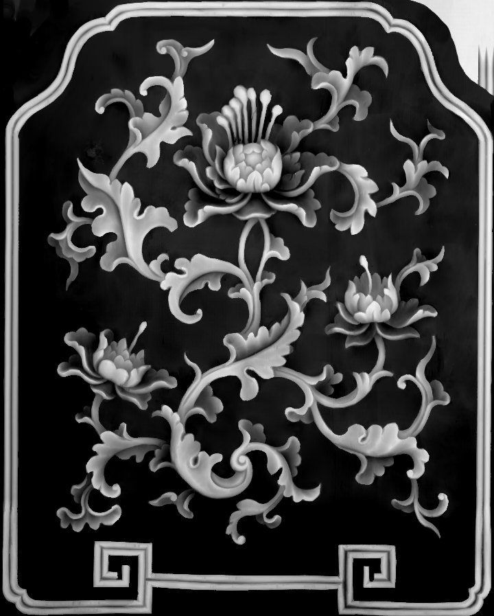 Greyscale Flowers BMP File