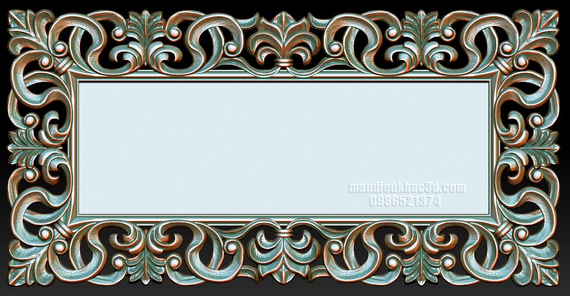 3D Model Mirror Frame Stl CNC stl File