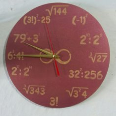 Laser Cut Math Wall Clock Free Vector
