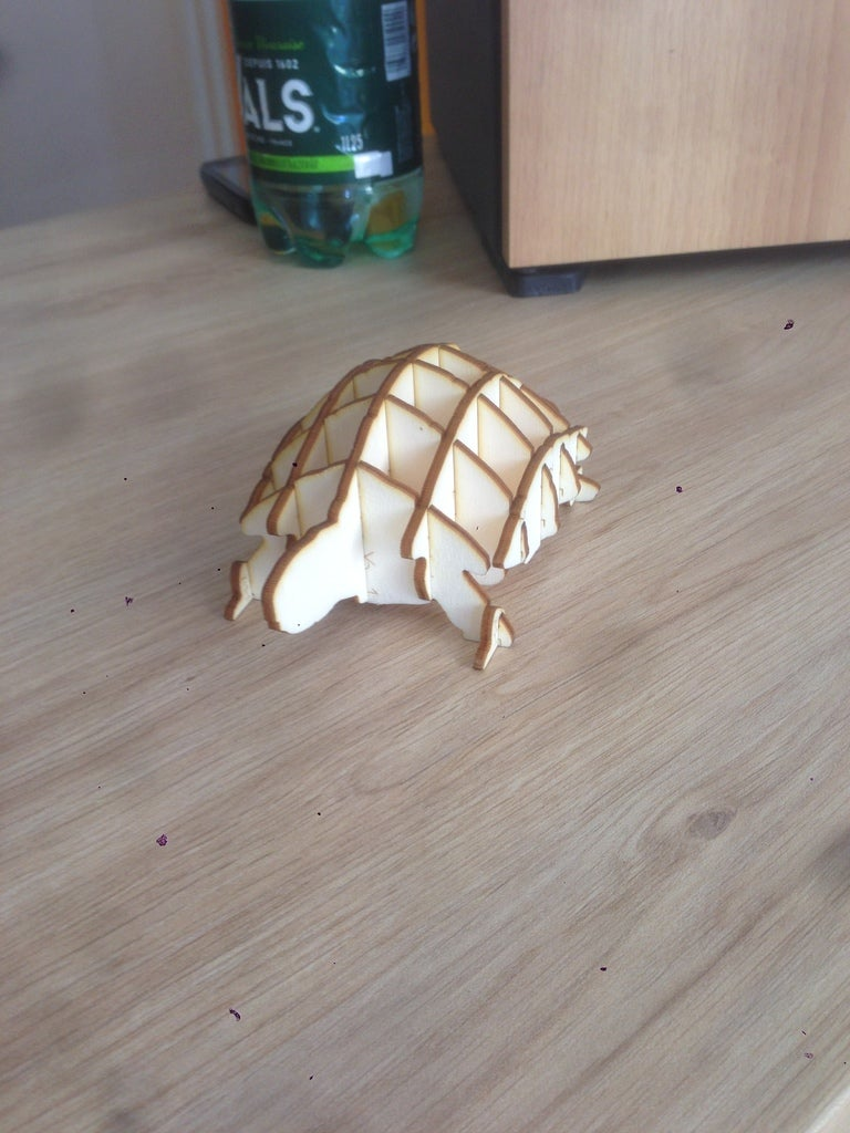 Laser Cut Turtle Template 3mm Plywood Free Vector