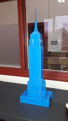 Laser Cut Empire State Building Free Vector