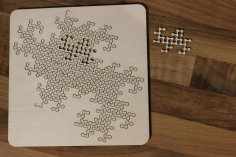 Laser Cut Fractal Jigsaw Puzzle SVG File