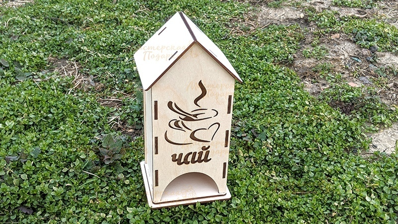 Laser Cut Wooden Tea House 3mm Free Vector