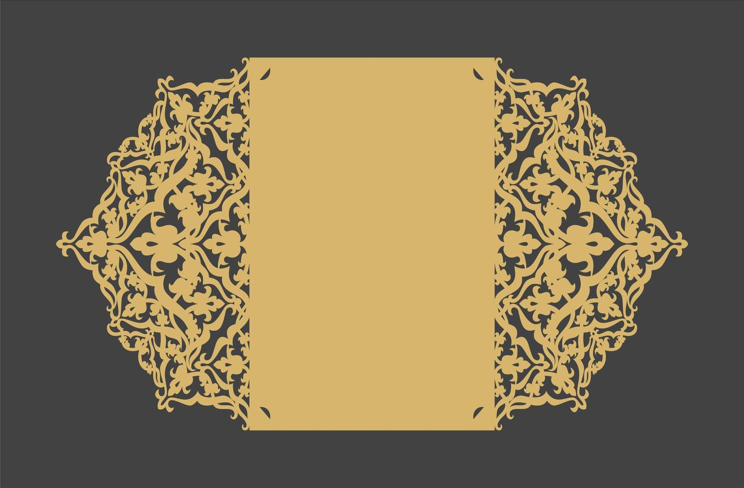 Laser Cut Decorative Holiday Card Template Free Vector