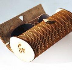 Laser Cut Wood Sunglasses Case Free Vector