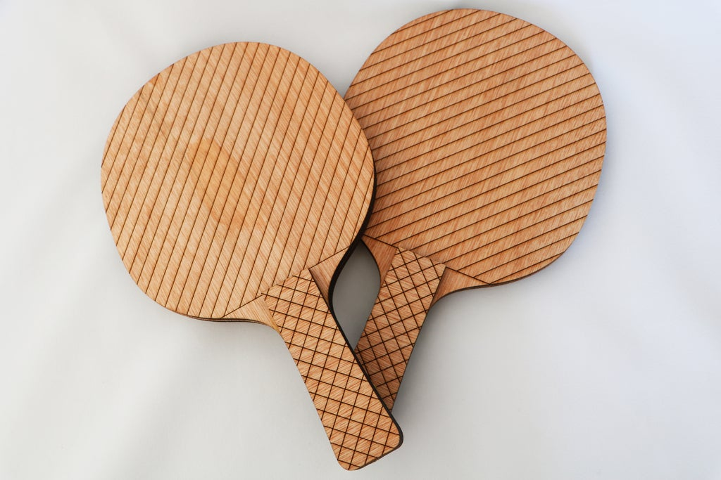 Ping Pong Paddle Laser Cut Template DXF File