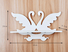 Laser Cut Swan Wall-Mounted Shelf Free Vector