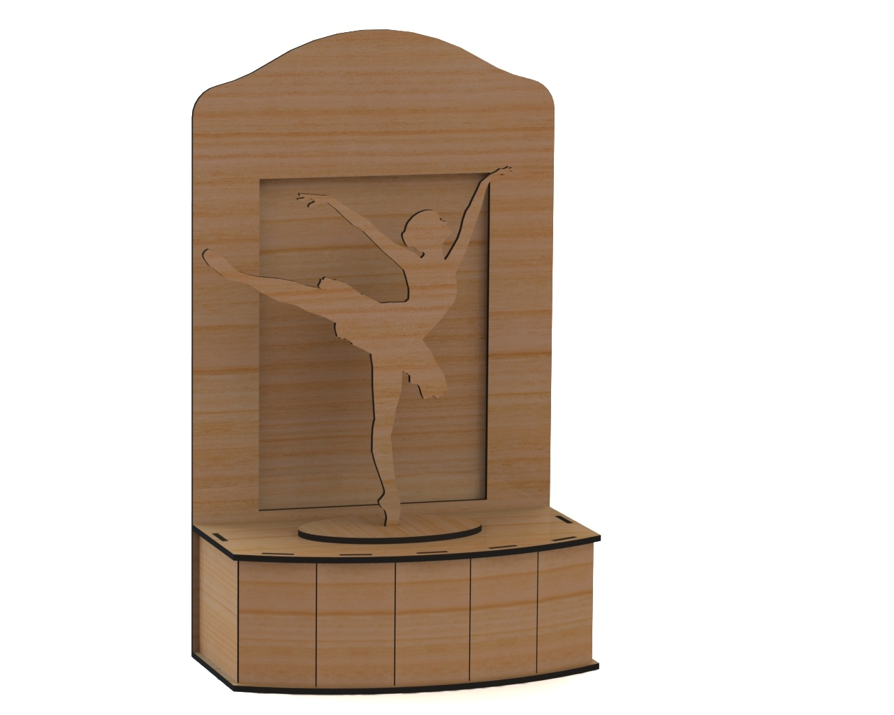 Laser Cut Ballerina On Stage 3D DXF File