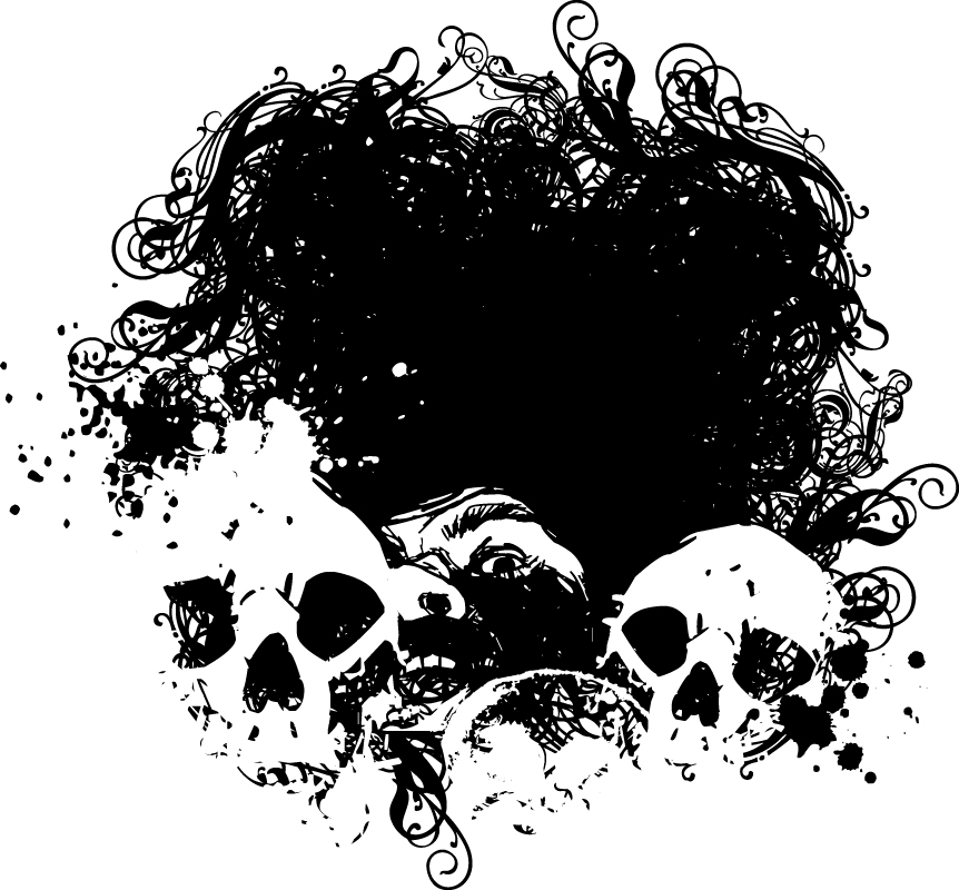 Abstract Skull Background Art Free Vector