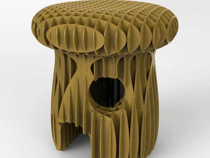 Mushroom Stool DXF File
