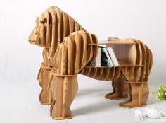 Gorilla Shaped Bookshelf DXF File
