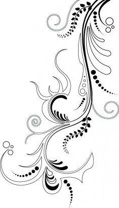 Black Abstract Vine Vector Free Vector