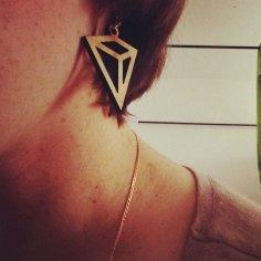 Laser Cut Jewelry Crystal Shaped Earrings Necklace Pendants 3mm Free Vector