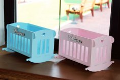 Laser Cut Baby Rocking Cradles Wooden Rocking Crib Cots Free Vector