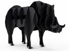 Wild Boar BBQ Grill Plasma Cut Free Vector