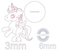 Laser Cut Wooden Unicorn Napkin Holder Free Vector