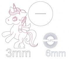 Laser Cut Wooden Unicorn Napkin Holder Free Vector