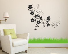 Laser Cut Flower Vine Wall Decor Ideas Free Vector