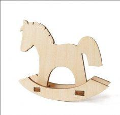 Laser Cut Wooden Rocking Horse Free Vector