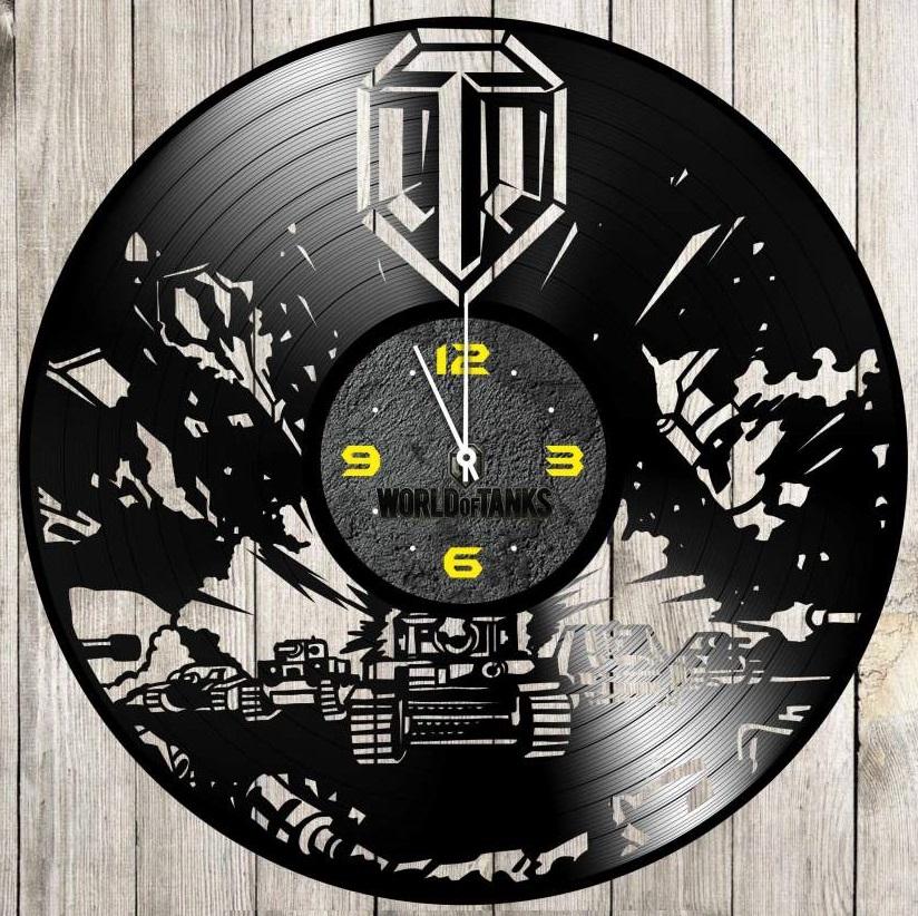 Laser Cut World Of Tanks Vinyl Record Wall Clock Free Vector