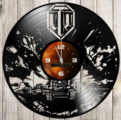 Laser Cut World Of Tanks Vinyl Record Wall Clock Free Vector