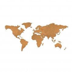 Laser Cut Blank World Map Free Vector
