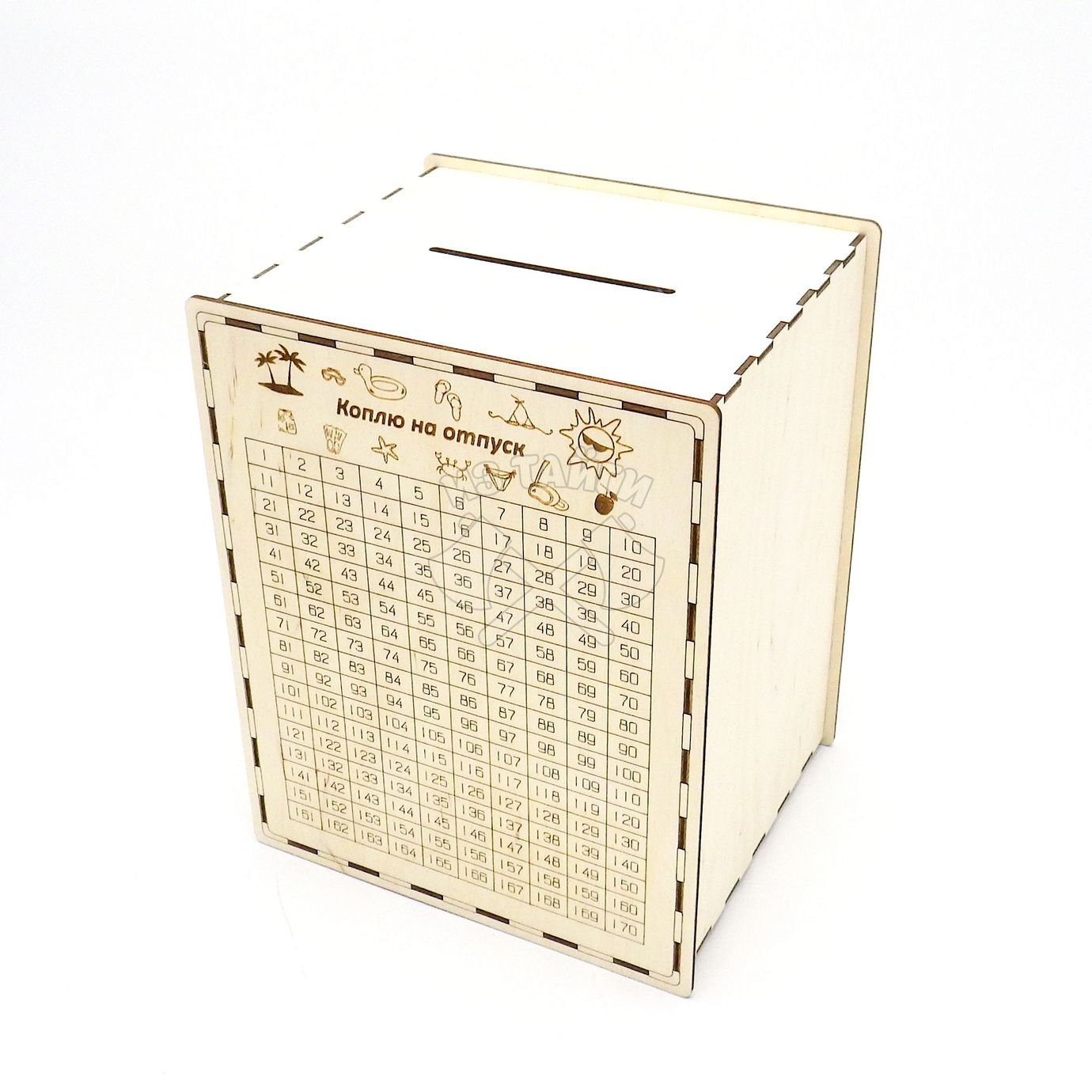 Laser Cut 365 Days Save Plan Creative Money Box Piggy Bank Free Vector