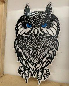 Laser Cut Owls Panel Wall Decor Free Vector