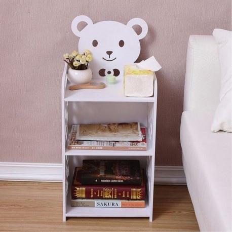 Laser Cut Kids Nightstand Teddy Bear Bedside Table DXF File