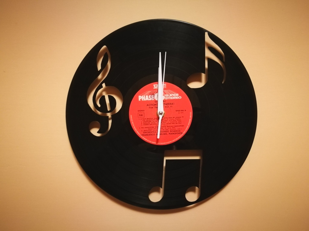 Orologio Vinile Note Musica dxf file
