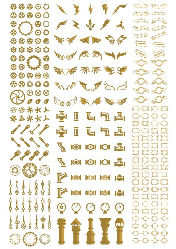 Steampunk Decor Free Vector