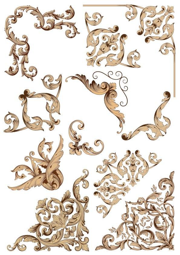 Barocco Style Free Vector