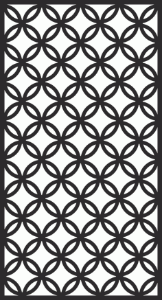 Room Divider Screen Pattern Free Vector