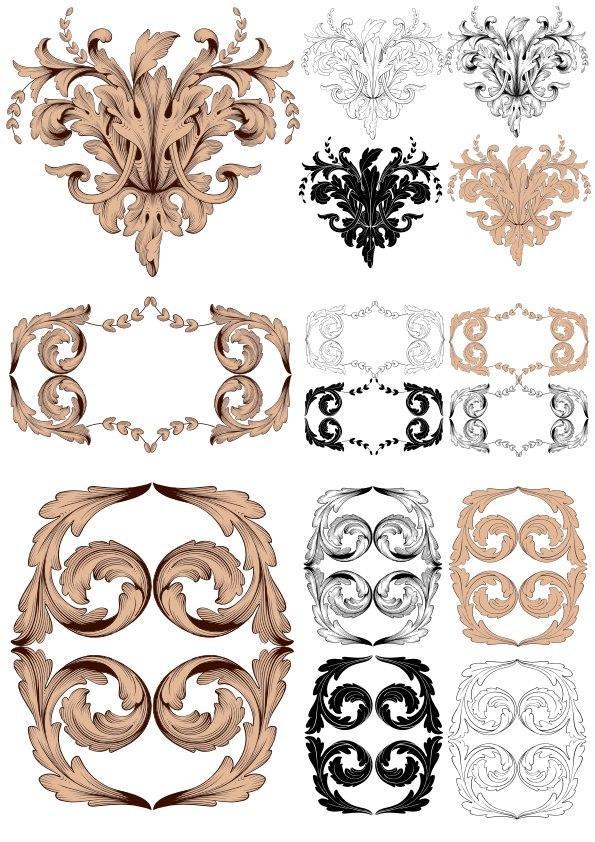 Baroque Vector Vintage Elements For Design Free Vector
