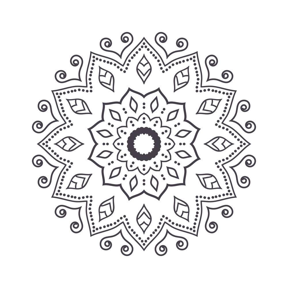 Mandala For Coloring 6 Free Vector