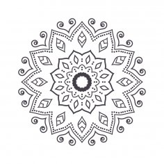 Mandala For Coloring 6 EPS File