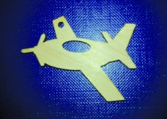 Laser Cut Wooden Simple Airplane Free Vector