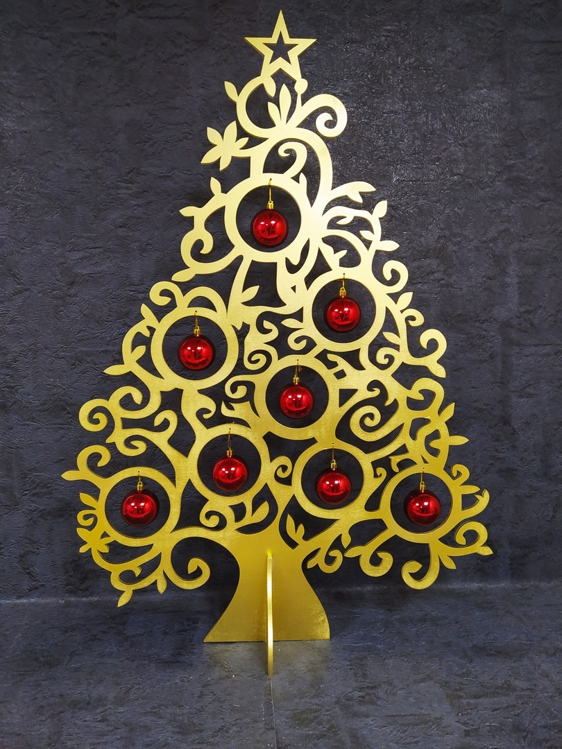 Laser Cut Christmas Ornament Tree Unique Christmas Decoration Free Vector