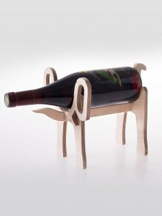 Laser Cut Elephant Wine Holder 10mm PDF File