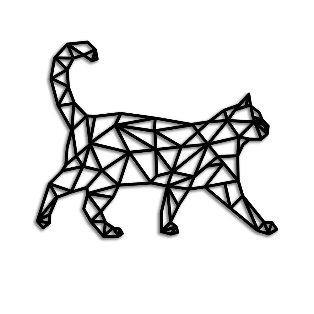 Laser Cut Cat Wall Decor Geometric Pattern Free Vector