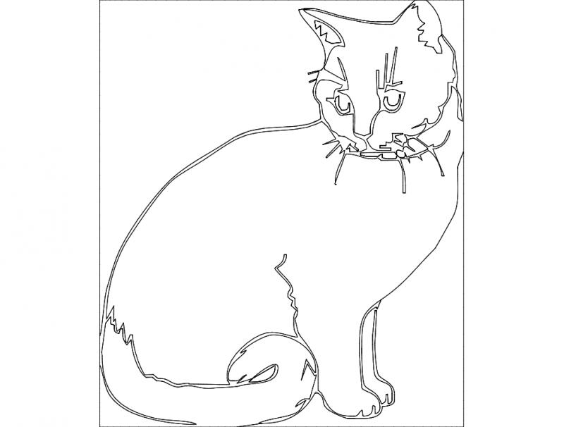 Katze dxf File