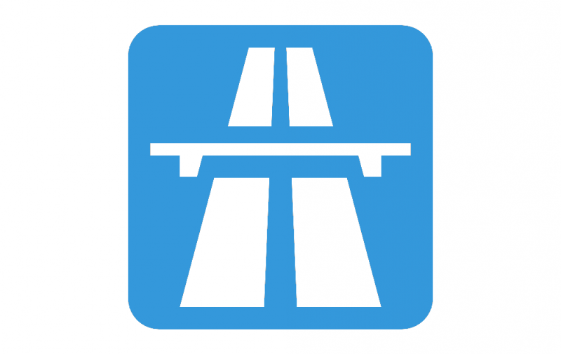 Road sign Motorway or Expressway dxf File