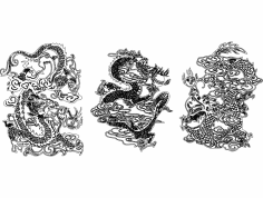 новые драконы dxf File