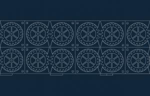 Gear Coasters in mm dxf